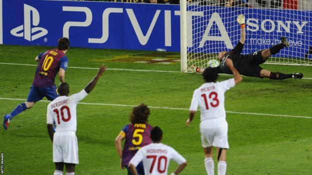 Lionel Messi v AC Milan 2012