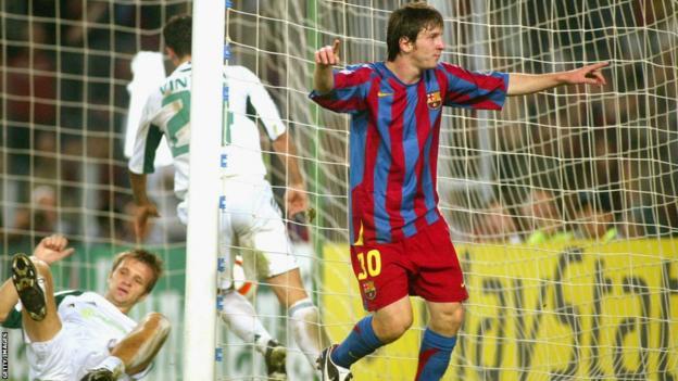 Lionel Messi v Panathinaikos 2005