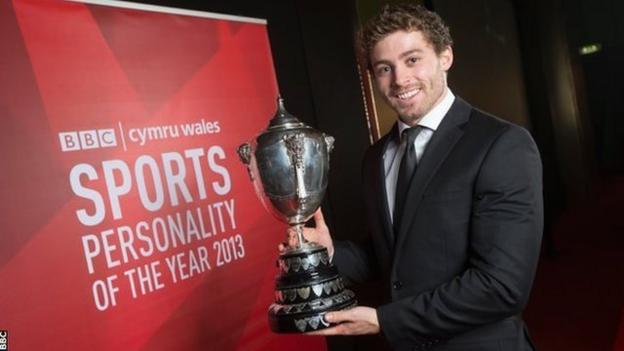 BBC Cymru Wales Sports Personality of the Year 2013 winner Leigh Halfpenny