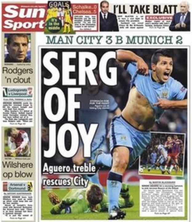 Wednesday back page of The Sun