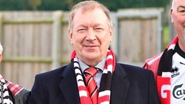 Truro City FC chairman Peter Masters