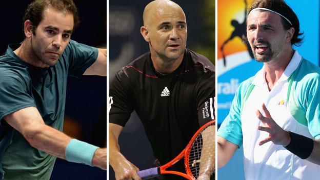 Pete Sampras, Andre Agassi and Goran Ivanisevic