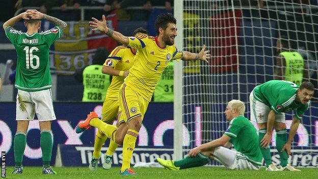 Paul Papp scored both Romania's goals in their 2-0 win over Northern Ireland on 14 November