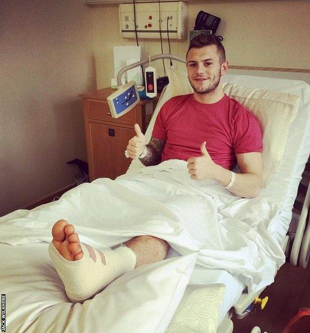 Wilshere posted a photo of himself on his Instagram account