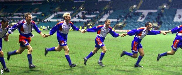 The most famous moment in Inverness' history was the 3-1 win over Celtic in 2000.