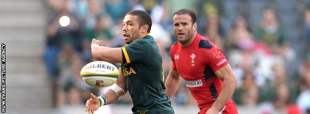 Wing Bryan Habana is one of several Springboks players unavailable to face Wales