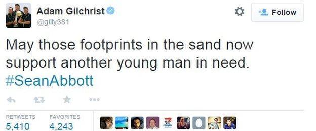 Adam Gilchrist tweet