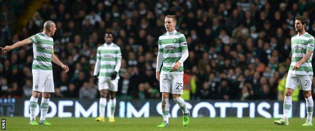 Scott Brown led a team enquiry after Celtic fell 2-0 behind.