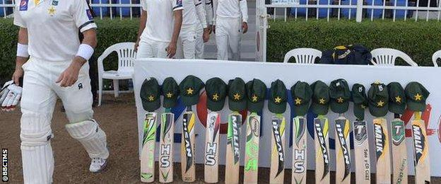 Pakistan cricket team's bats