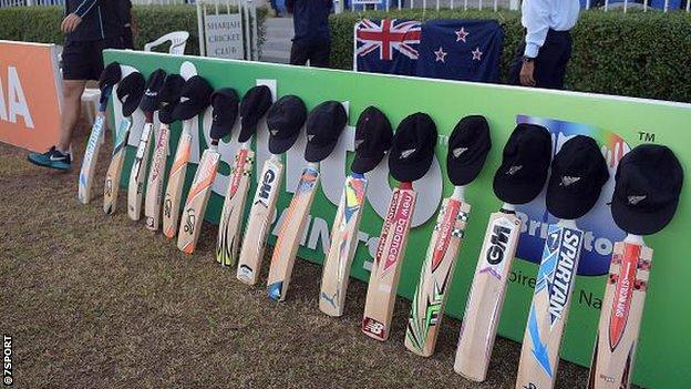 New Zealand cricket team's bats