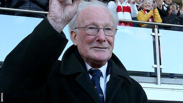 Dr Jack Kyle pictured at Ravenhill in May 2014