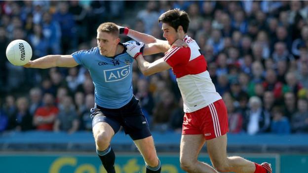 Dublin retained their National League Division One crown by beating Derry 3-19 to 1-10 in the Croke Park final on 27 April