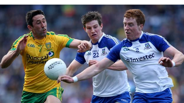 Monaghan overcame Donegal 1-16 to 1-10 in an all-Ulster Football League Division Two decider