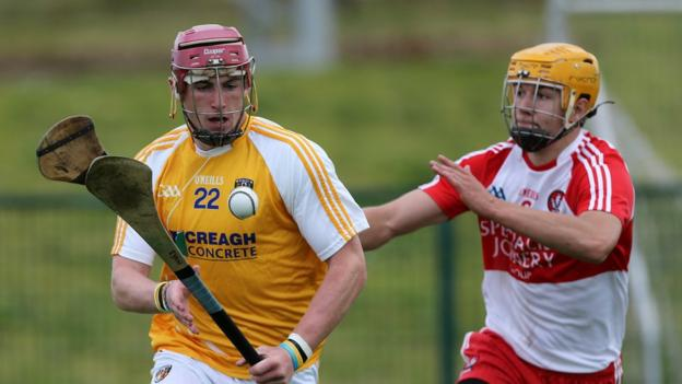 Antrim saw off the challenge of Derry in the Ulster Senior Hurling decider