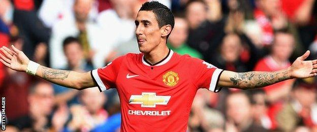 Manchester United record signing Angel Di Maria