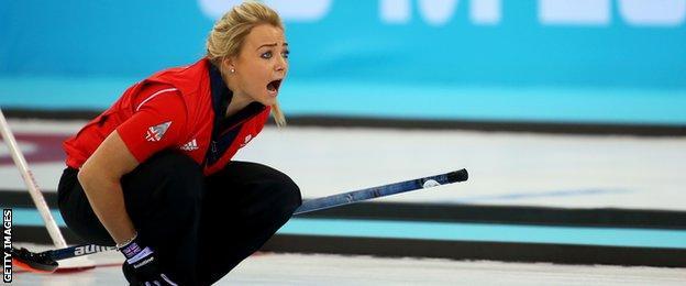 Scotland vice-skip Anna Sloan