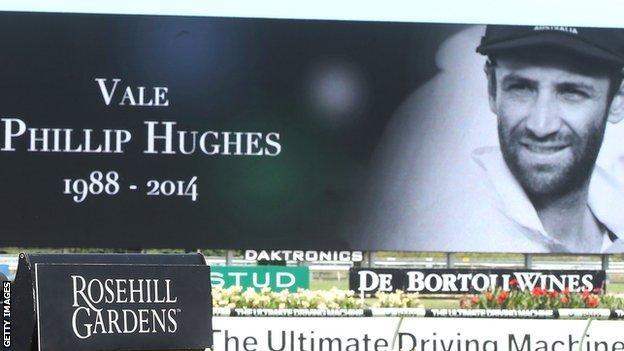 A tribute to Phillip Hughes at Sydney Races