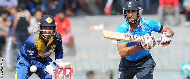 England's Ravi Bopara hits out