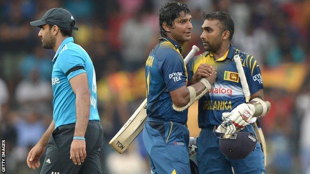 Sri Lanka's Kumar Sangakkara and Mahela Jayawardene