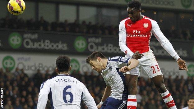 Danny Welbeck's second-half header was his third Arsenal goal