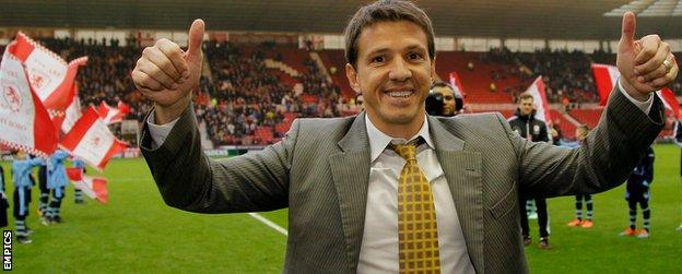 Juninho signs autographs for fans on his return to the Riverside Stadium