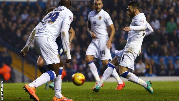 Leeds midfielder Mirco Antenucci
