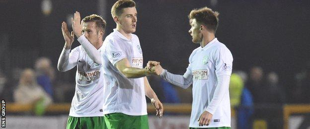 Hibernian were beaten Scottish Cup finalists in 2012 and 2013