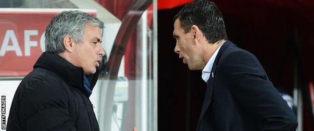 Jose Mourinho and Gus Poyet
