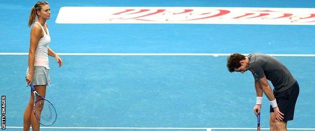 Maria Sharapova and Andy Murray