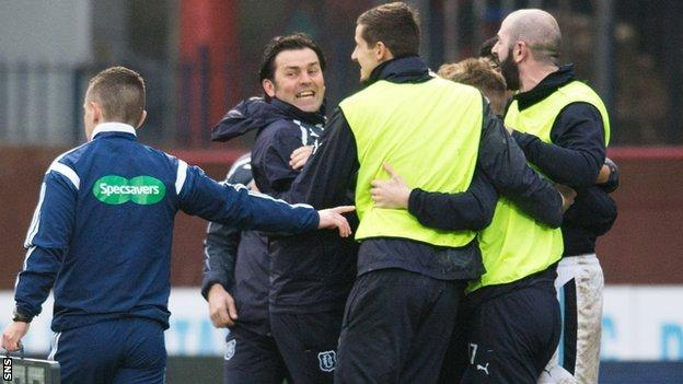 Paul Hartley says Dundee were due some luck.