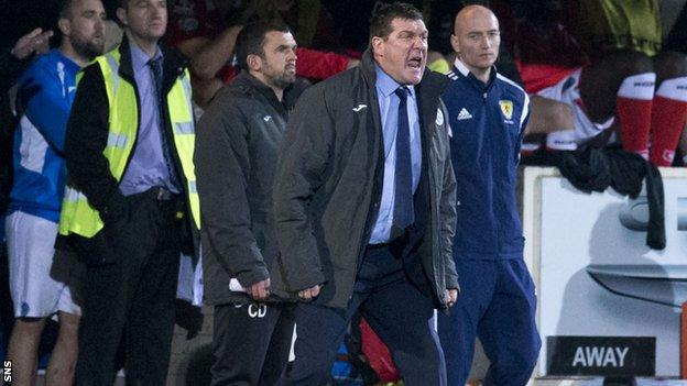 St Johnstone manager Tommy Wright felt his side could have won more confortably.