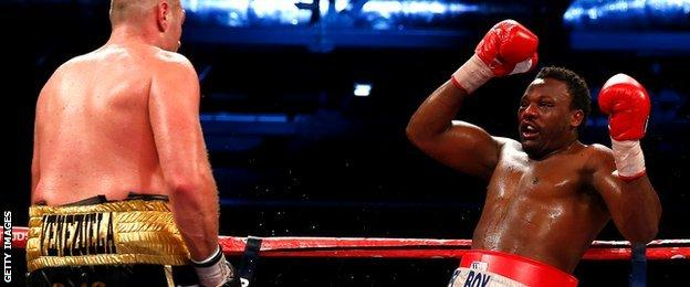 Dereck Chisora is stunned by Tyson Fury