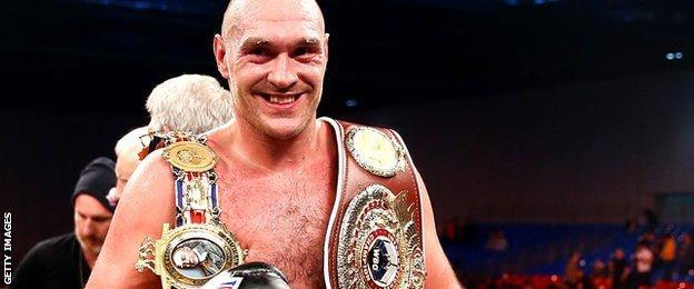 Tyson Fury's belts