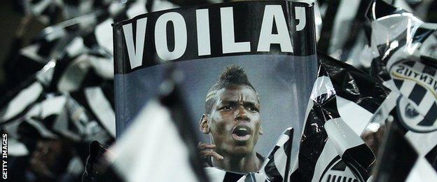 Supporter's banner of Paul Pogba