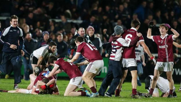 Both teams were making their first appearance in the Ulster club final and it was Slaughtneil who shaded a one-point win over Omagh