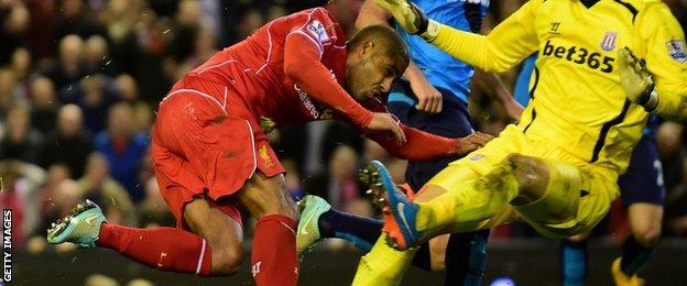 Liverpool's Glen Johnson