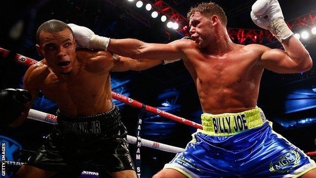 Billy Joe Saunders fights Chris Eubank Junior