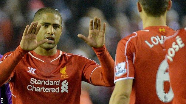Liverpool defender Glen Johnson