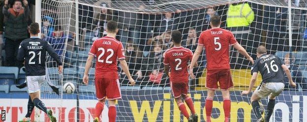 David Clarkson scores against Aberdeen
