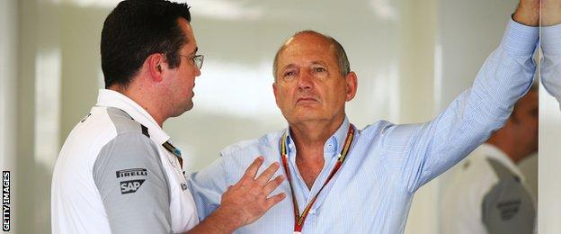 Eric Boullier and Ron Dennis