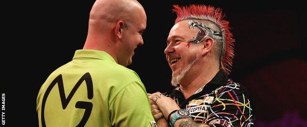 Michael van Gerwen and Peter Wright