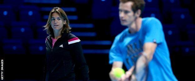 Amelie Mauresmo and Andy Murray
