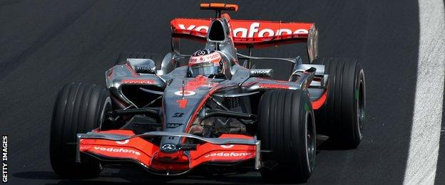 Fernando Alonso at McLaren in 2007