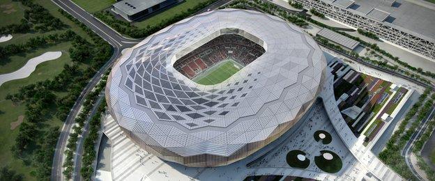 Plans for the Qatar Foundation Stadium