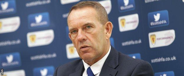 Forth Valley Football Academy head coach Kenny Shiels