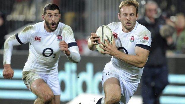 Chris Pennell scored his first try in an England shirt in the 38-7 victory against Crusaders at Christchurch in June