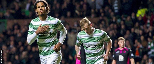 Celtic defender Virgil van Dijk scored the only goal