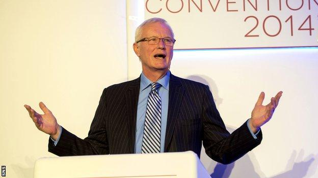 Barry Hearn addresses the Scottish FA Convention 2014