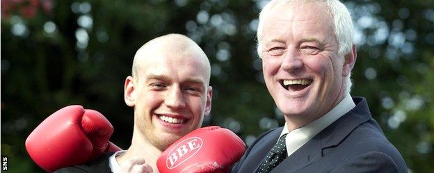 Boxer Craig Docherty joins Barry Hearn to preview a European Superfeatherweight title fight in Glasgow