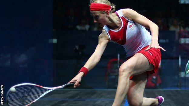 English squash player Alison Waters